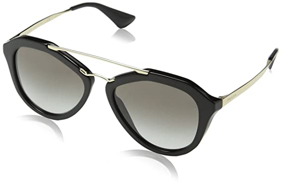 32c87c009da Amazon.com  Prada Women s 0PR 12QS Black Grey Gradient