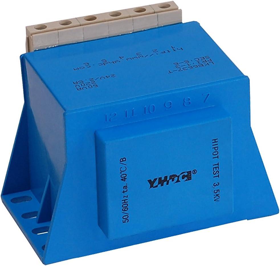 YHDC Transformadores para Montaje en Placa LKB6637-L/P/T 60VA Entrada 110V Salida 24V