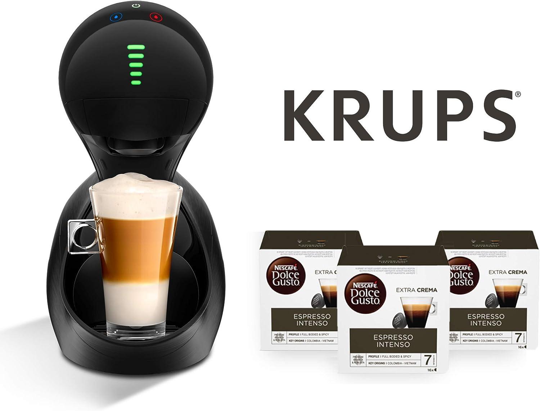 Krups Cafetera automática Movenza + 48 cápsulas Nescafé Dolce Gusto Espresso Intenso (3 x 16 cáp.) (Black + 48 cápsulas Dolce Gusto Expresso Intenso): Amazon.es: Hogar