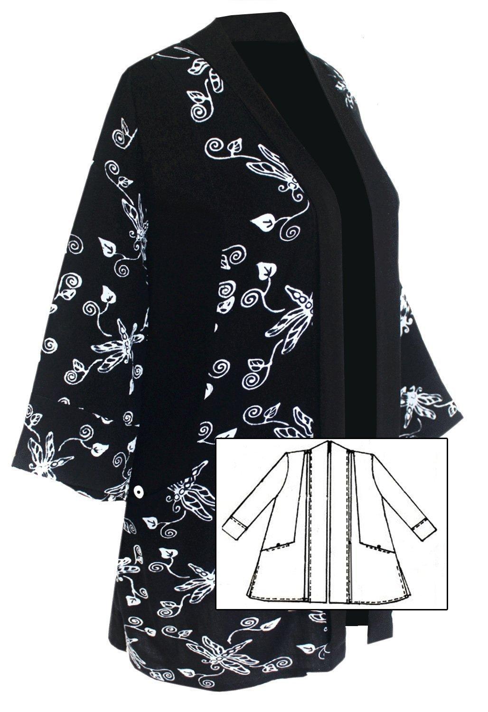 Amazon Com Handmade Women S 2x 3x Or 4x Plus Size Kimono Jacket
