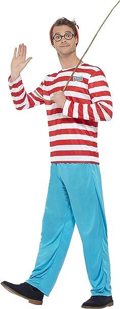 Smiffys - Disfraz de Wally para Hombre, Talla S (34591S): Smiffys ...
