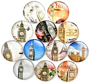 London Souvenir Refrigerator Magnets Set of 12 United Kingdom England Magnetic Fridge Home Decoration Accessories Arts Crafts