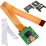 Kuman for Raspberry Pi Camera Module 5MP 1080p OV5647 Sensor mit 15 Pin FPC Kabel + Pi Zero Ribbon Kabel 15cm + 3pcs Einstellbare Kamera Halterung für Raspberry Pi 3 2 model B B+ A+ SC09
