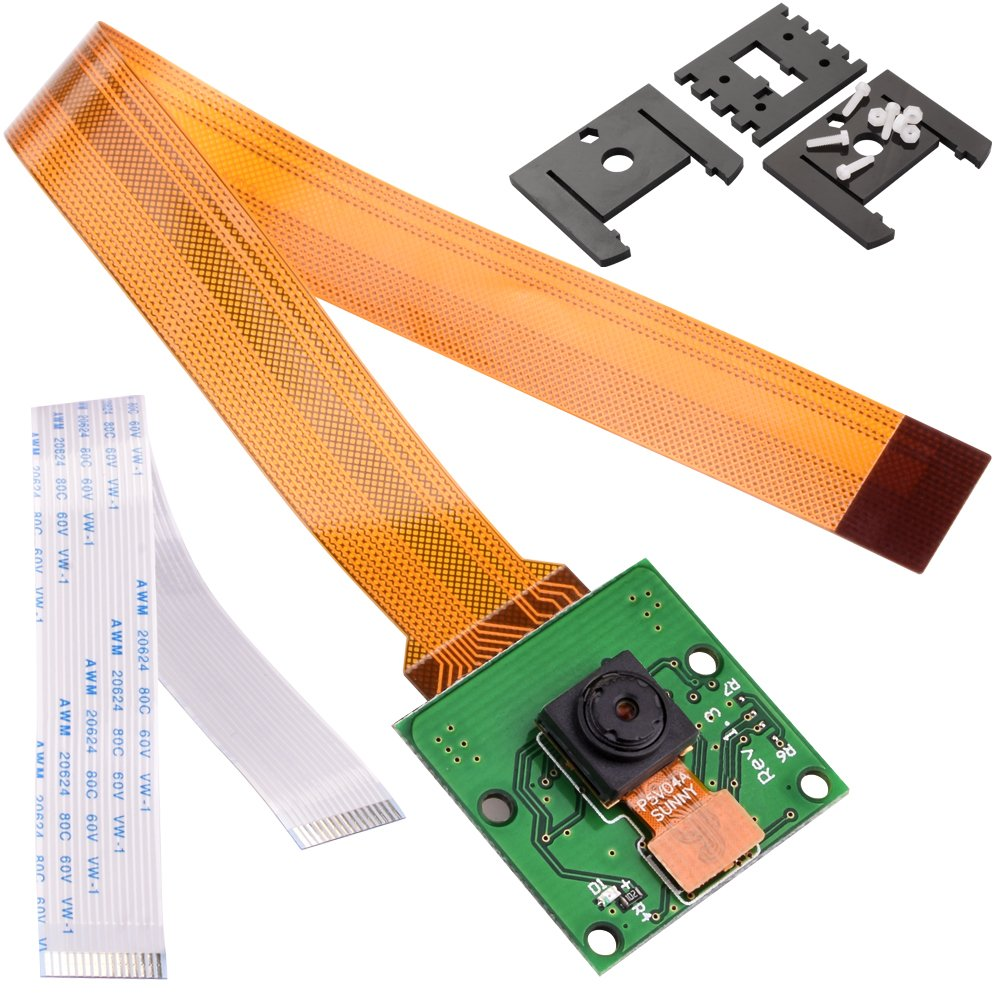 For Raspberry Pi , Kuman Camera Module 5MP 1080p OV5647 Sensor with 15 Pin FPC Cable + Pi Zero Ribbon Cable + 3pcs Adjustable Camera Mount for Raspberry Pi 3 2 model B B+ A+ PI ZERO SC09 SC09-US