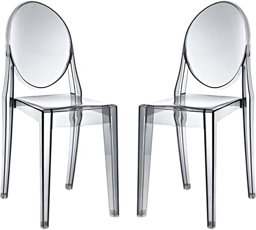 Modway Casper Modern Acrylic Stacking Two Dining Side Chair