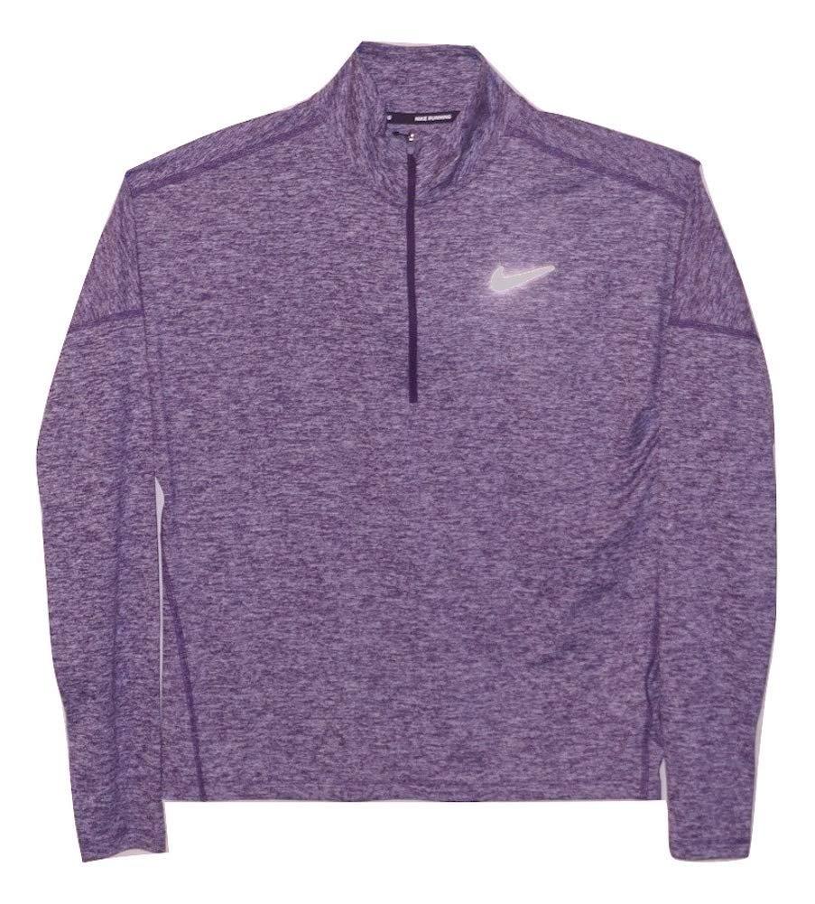 Nike Womens Dry Element 1/2 Zip Running Top (Purple Heather, X-Small)