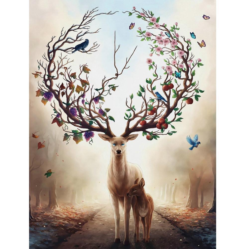 Globeagle Embroidery Deer 5D Diamond Painting Handmade Cross Stitch Craft Gift Decor