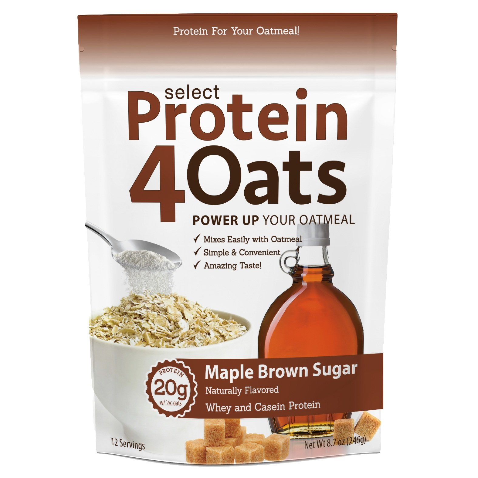 Pescience Select Protein 4 Oats, Maple Brown Sugar, 12 Serving by PEScience