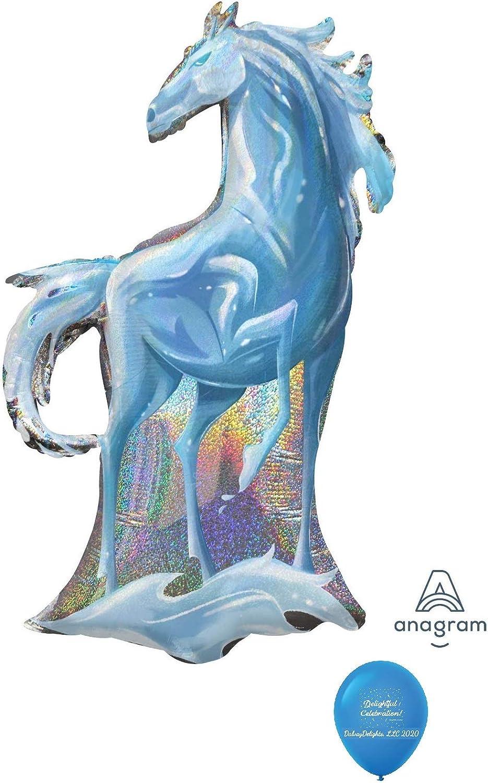 DalvayDelights 38 Frozen 2 Nokk The Water Spirit Horse Shimmery Foil Mylar Balloon