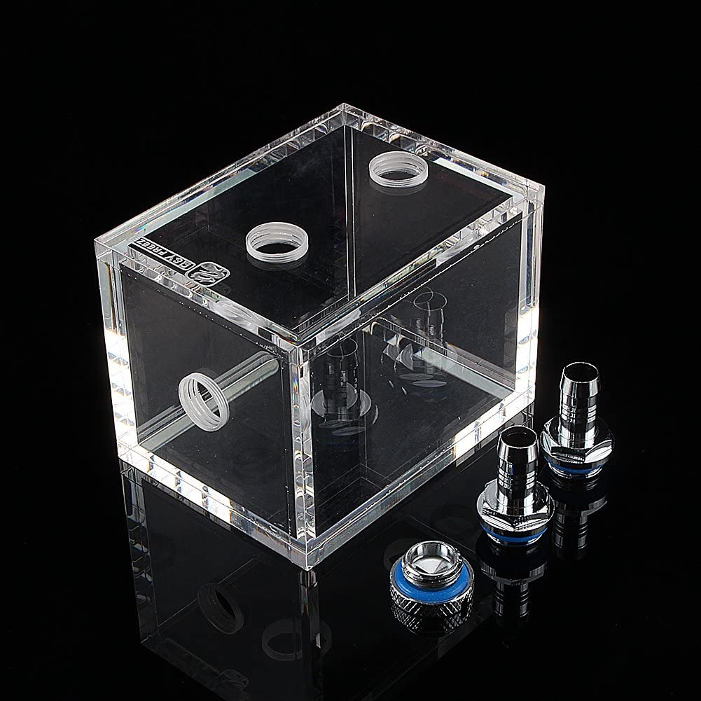 Yosoo 200ml Acrylic Water Tank Cooler Water Cooling Radiator Computer CPU Water Block