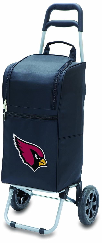 Picnic Time NFL Arizona Cardinals Kühlwagen mit Rollen, isoliert, Schwarz