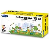 300-Pack Tronex Kids Nitrile Disposable Gloves for 7-14 Years, Food Safe, Multipurpose, Fingertip-Textured, Powder-Free