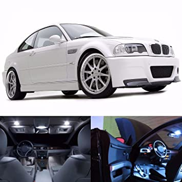 LED blanco luces interior kit de paquete de licencia para BMW E46 1999 - 2006 (20 bombillas): Amazon.es: Coche y moto