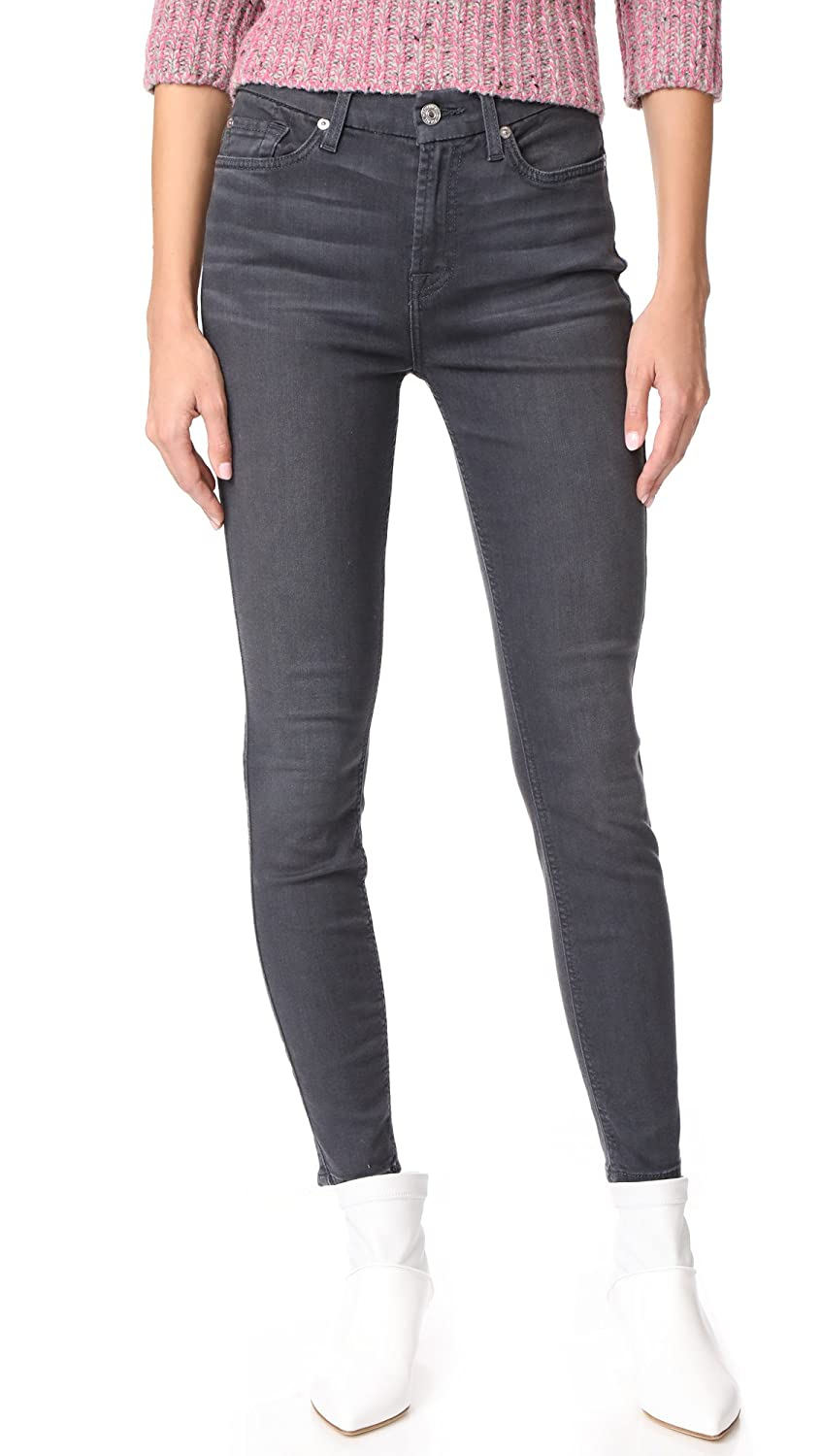7 For All Mankind Womens B air Skinny Jeans with Knee Holes