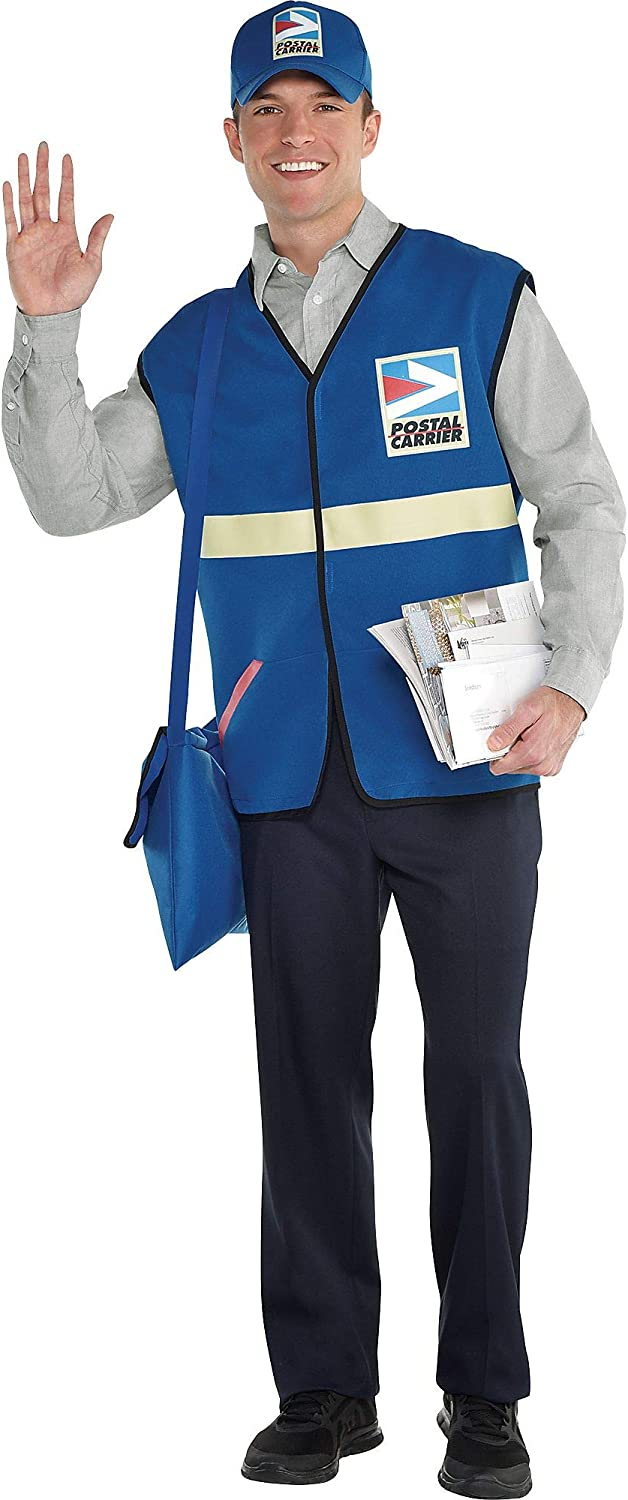 amscan 8401957 Blue Mailman Costume - One Size