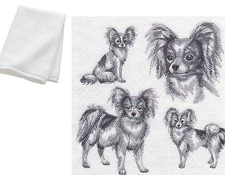 Papillon Dog Breed Cotton Kitchen Dish Towel