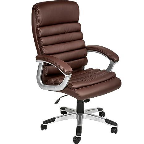 TecTake Silla de Oficina Sillon de despacho Ejecutivo con reposabrazos (marrón | no. 402150)