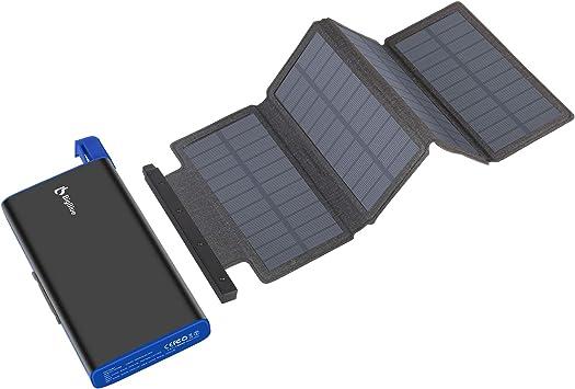 BigBlue - Cargador solar de 25000 mAh, batería externa con 4 ...