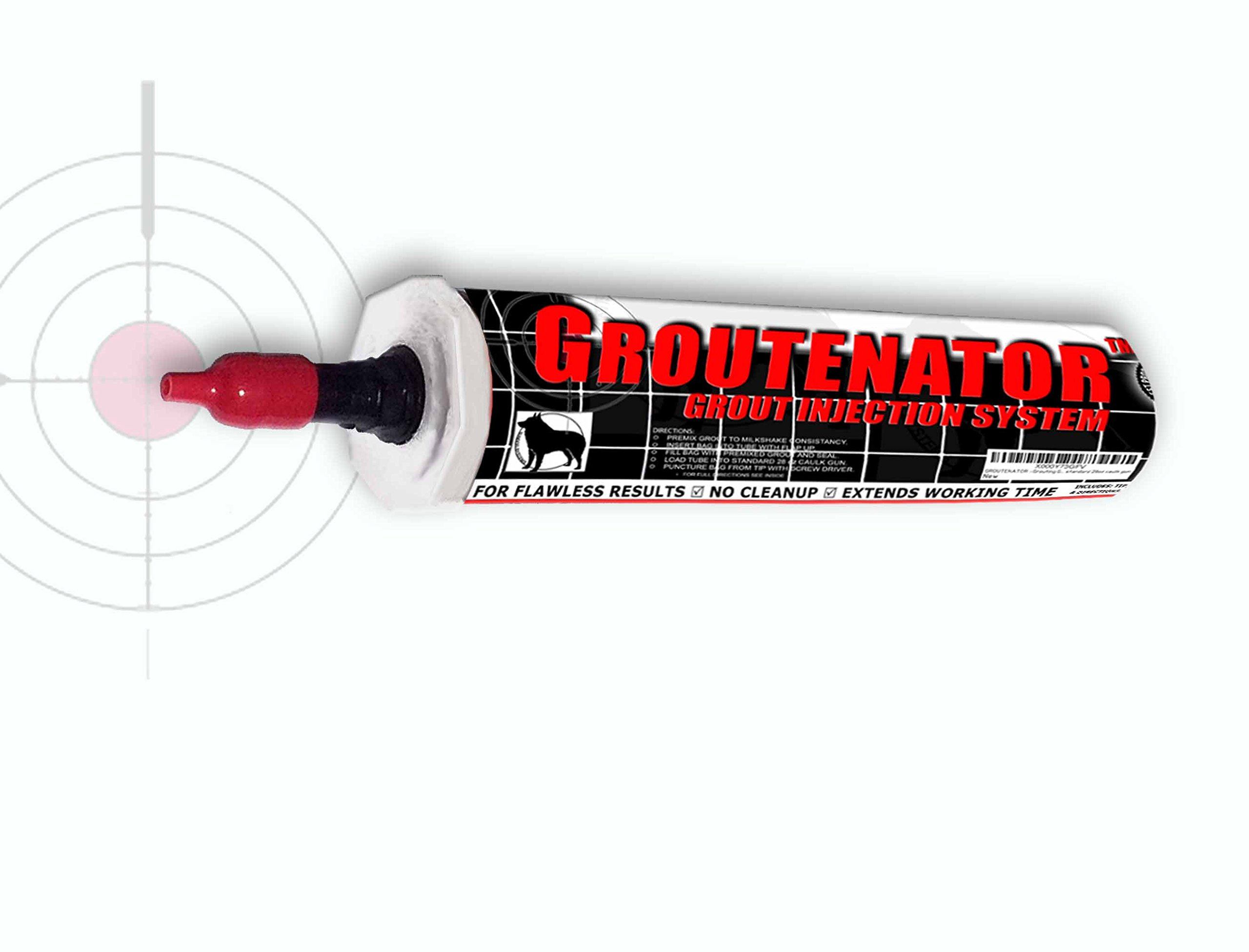 GROUTENATOR JR. 10oz - Refillable Tube, Grout Bag replacement for Grout, Glues and more...