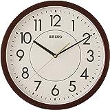 Seiko Wall Clock (36.1 cm x 36.1 cm x 3.9 cm, Brown, QXA629BT)