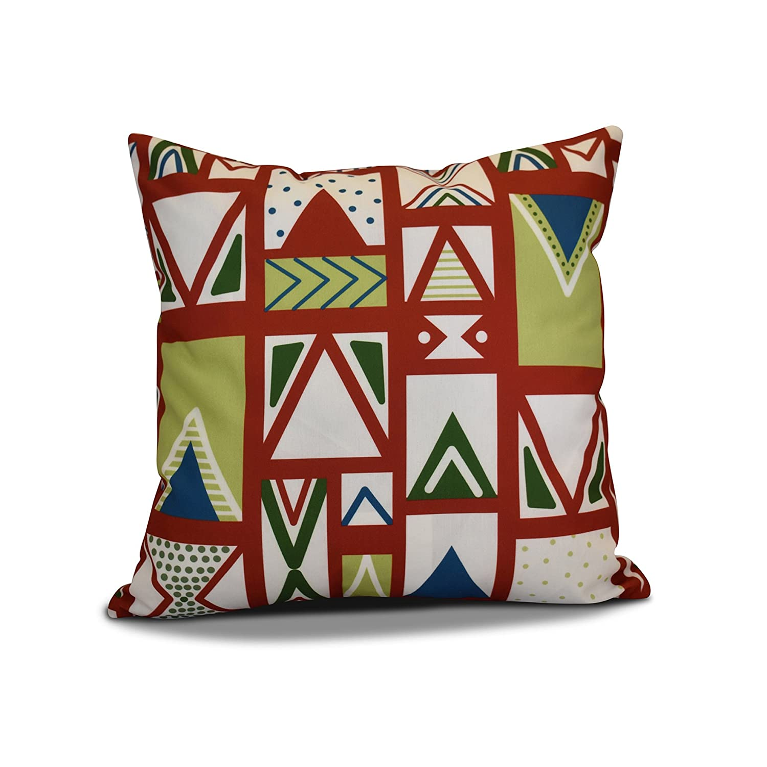 E by design PHGN707RE1-20 20 x 20-inch, Merry Susan Pillow, Red 20x20,