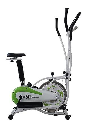 Olympic ES913D 2-in-1 - Elíptica de fitness, color verde, talla