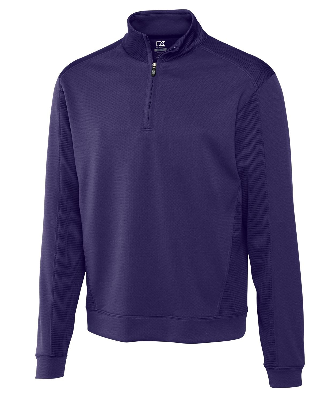 Cutter & Buck Men's Big-Tall Drytec Edge Half Zip, College Purple, X-Large