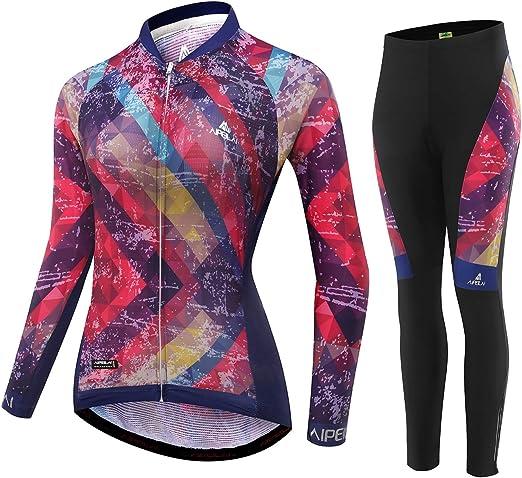 Womens Sportswear Cycling Jersey Bike Bicycle Long Sleeve Cycling T-shirt Top