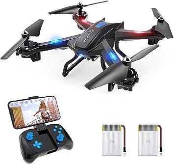 SNAPTAIN S5C Drone con Cámara, 1080P HD, Dron WiFi FPV por Control Remoto, Control de Voz, Control de Gestos, Quadcopter Helicóptero con Headless ...