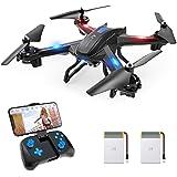 SNAPTAIN S5C Drone con Cámara, 720P HD, Avión WiFi FPV por Control Remoto, Control de Voz, Control de Gestos, Quadcopter Helicóptero con Headless Modo, Altitud Hold, G-Sensor, Modo Órbita, 3D Flip