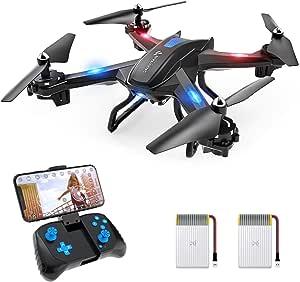 SNAPTAIN S5C Drone con Cámara, 1080P HD, Avión WiFi FPV por Control Remoto, Control de Voz, Control de Gestos, Quadcopter Helicóptero con Headless Modo, Altitud Hold, G-Sensor, Modo Órbita, 3D Flip