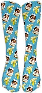 Hipiyoled Banana And Nutella Unisex Comfortable Stocking Socks Athletic Sock