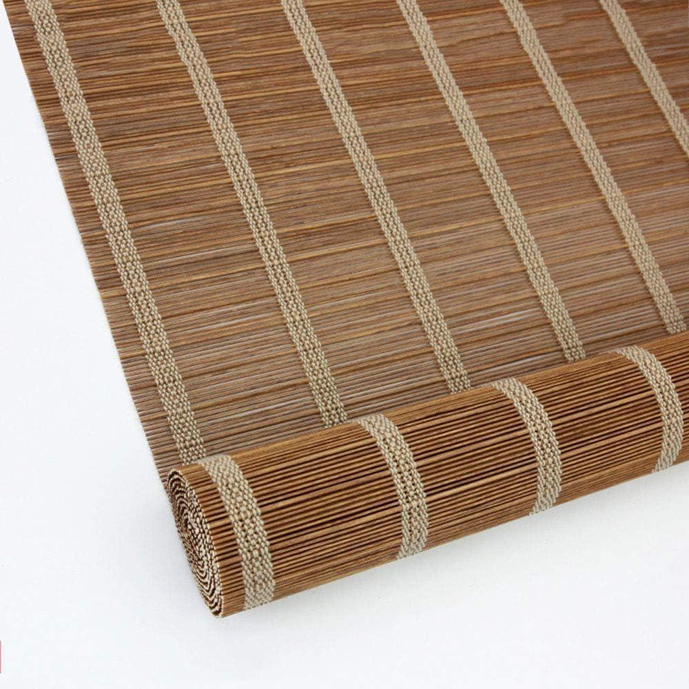 Wghz Persianas enrollables de bambú/Cortina Opaca Vertical Persianas venecianas con Aislamiento térmico Natural/para Puertas con Ventanas, Negro 4 Colores