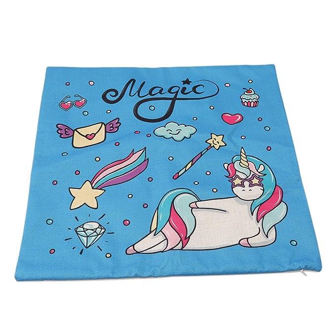 ulaky Unicorn unicornio de dibujos de funda de almohada ...