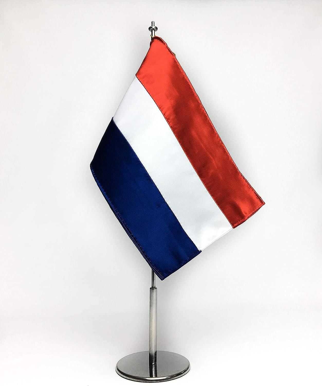 ABBE Global Bandera de Mesa Bordada de Holanda 15x25 y mástil ...