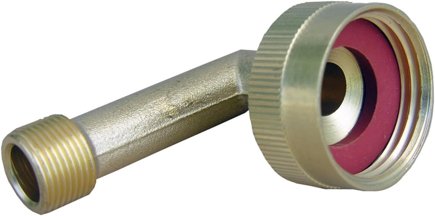 LASCO 17-8389 3/4-Inch Female Garden Hose Thread Swivel by 3/8-Inch Compression Brass 90-Degree Ell/Elbow