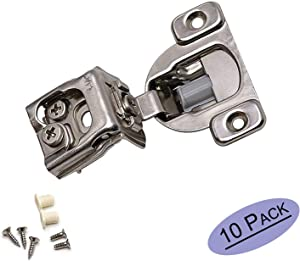 goldenwarm 10 Pack Face Frame Concealed Cabinet Hinges - 1-1/4'' Overlay Soft Close Hinge Adjustment Cabinet Door Hinges Quiet Close Cabinet Hardware