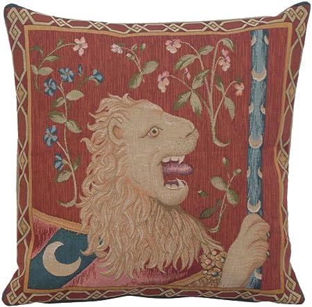 Amazon.com: Le lion Medieval Francés Tapestry Cojín: Home ...