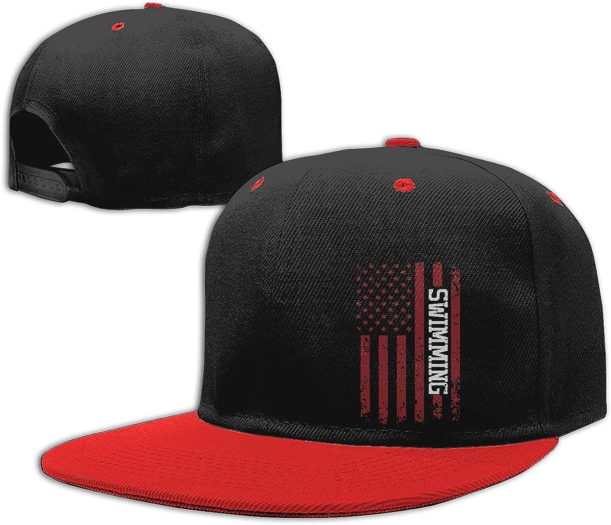 Men and Women Hiphop Cap American Swimming Classic Hip-Hop Baseball Caps