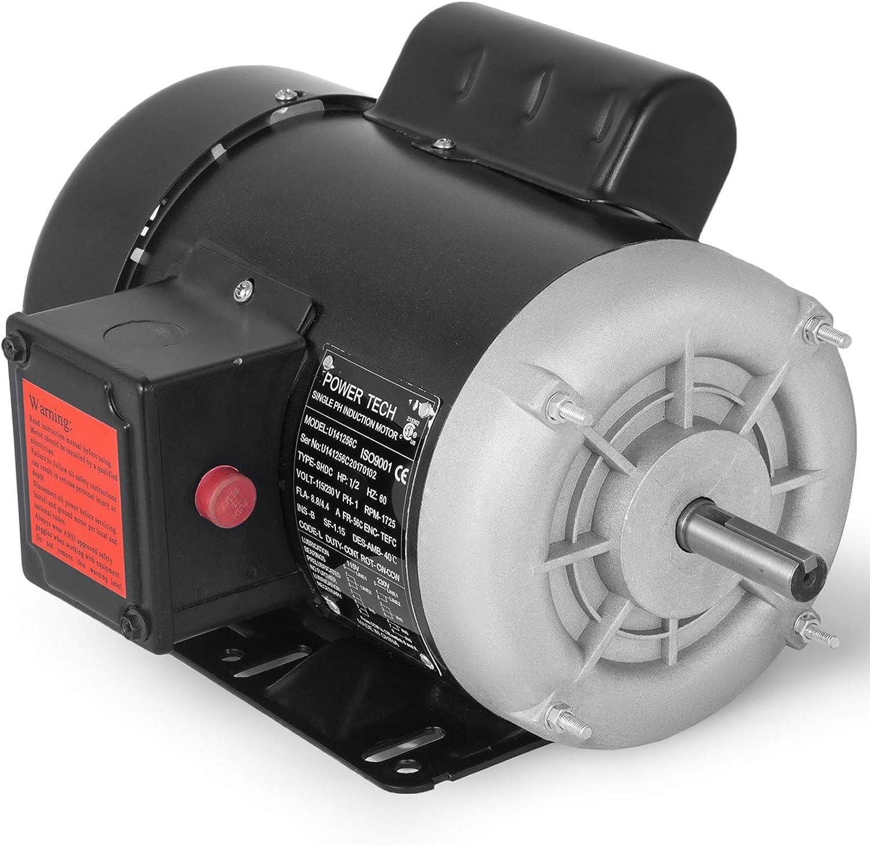 Mophorn 0 5hp Electric Motor 1725rpm Single Phase 56c Frame Air Compressor Motor 5 8 Shaft Diameter Reversible Electric Ac Motor For Air Compressor General Equipment 115 230vac
