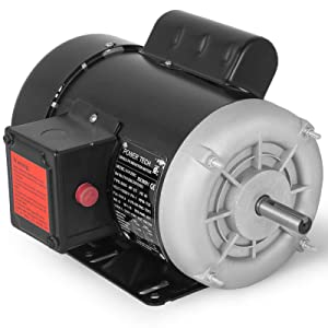 Mophorn Electric Motor Rated Speed 1725 RPM Single Phase Motor AC 115V 230V Air Compressor Motor Suit for Agricultural Machinery and General Equipment (0.5 HP)