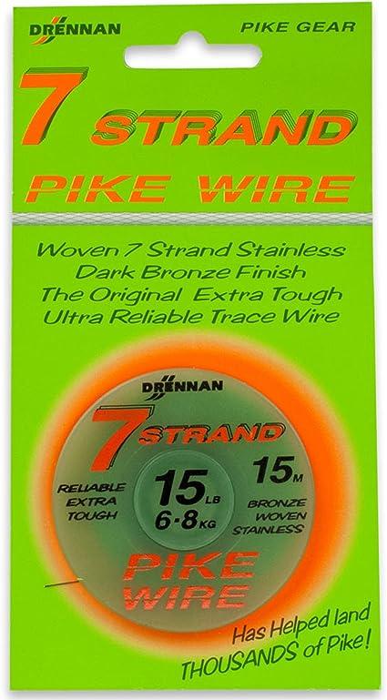 Drennan 7 Strand Pike Wire 6,8kg//15lbs 15m Stahlvorfach