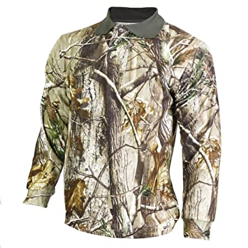 844727a3 Raptor Hunting Solutions Realtree AP Camouflage Button Shirt Sweater realtree  AP (L)