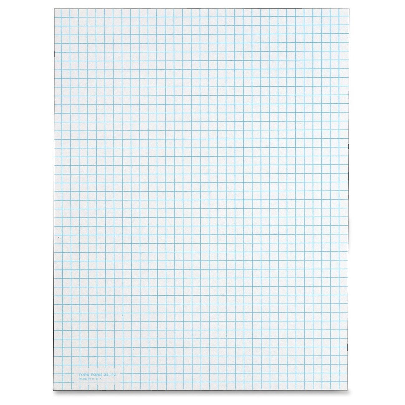 TOPS TOP3314 Quadrille Pad, Gum-Top, 8-1/2 x 11 Inches, Quad Rule , White Paper, 50 Sheets per Pad  Pack(3314)