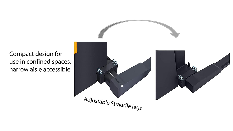 2200lbs Forks Material Lift 63 Lifting Adj ApolloLift Semi-Electric Stacker