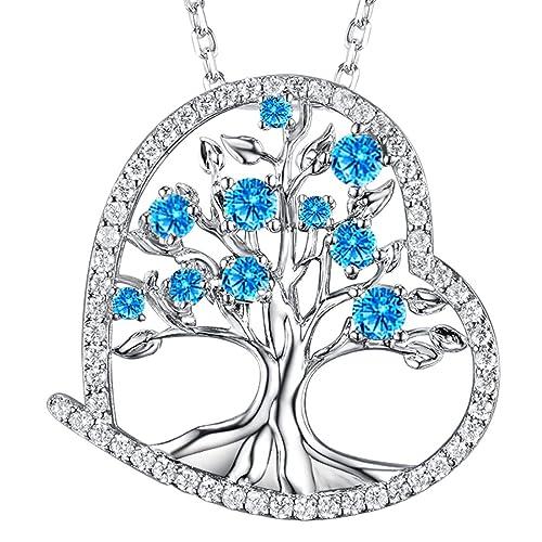 05cfa9beacf6 Collar con colgante de corazón con el árbol de la vida