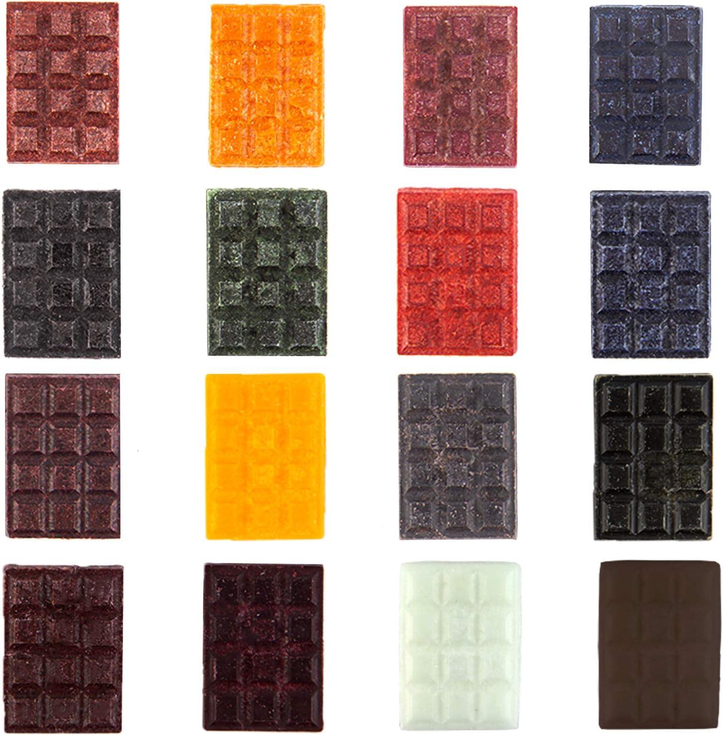 LUTER 16 Piezas Copos De Tinte Para Velas, 60 g De Tintes De Soja Para Velas, Para Suministros De Fabricación De Velas De Colores y Perfumadas (16 ...