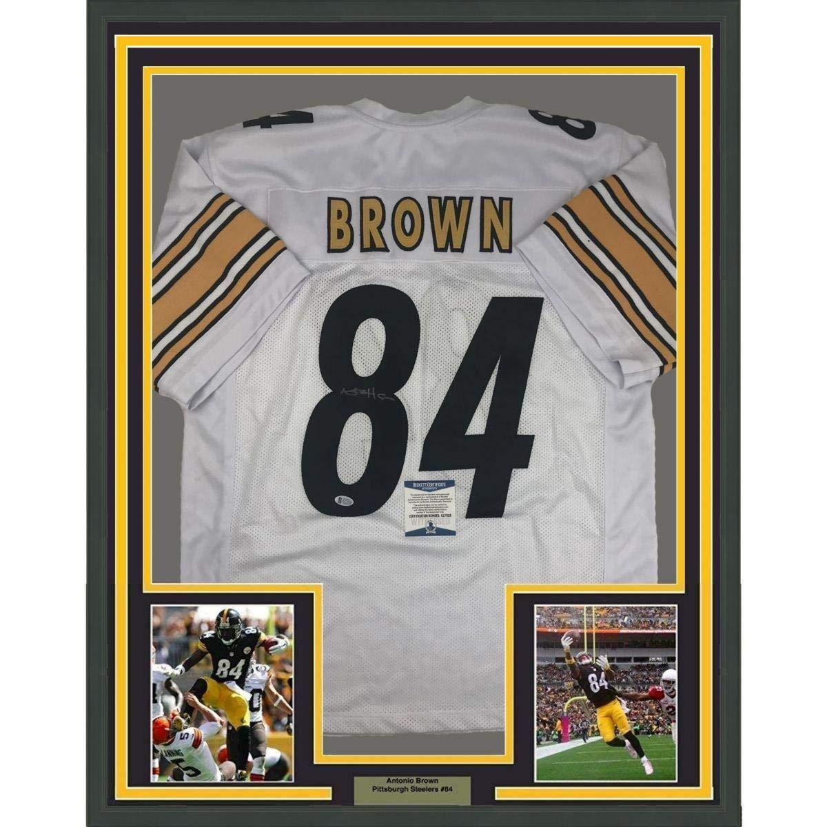 Antonio Brown Signed Jersey - FRAMED 33x42 White Beckett BAS COA - Beckett  Authentication - Autographed NFL Jerseys at Amazon s Sports Collectibles  Store 9754f1b9c