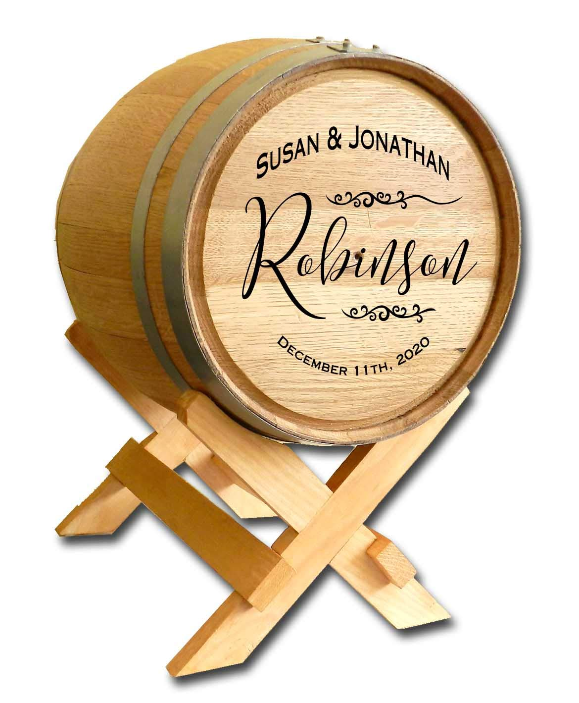 Personalized Scripted Graphic Wedding Barrel Card Holder