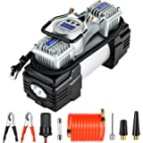 OlarHike 12V Portable Air Compressor Tire Inflator with Dual Cylinder Pump, Digital Inflation Accuracy, Auto Shut-Off, LED Ni